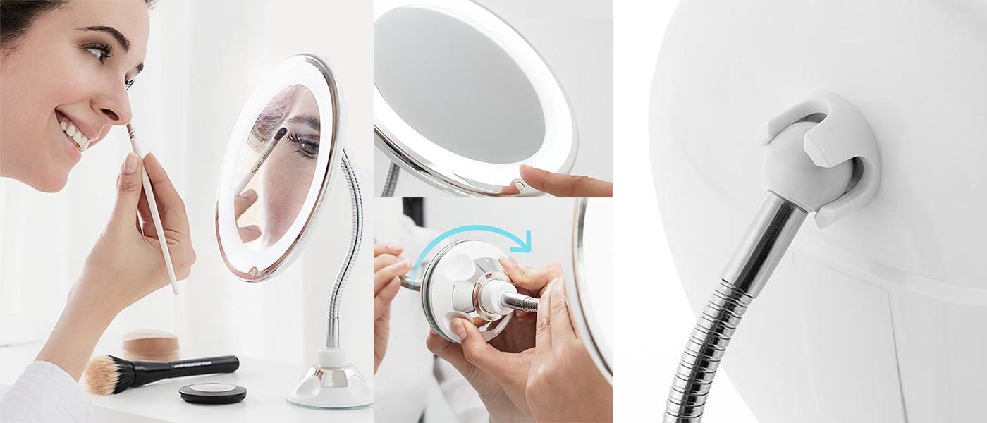 Handige make-up spiegel voor praktisch opmaken
