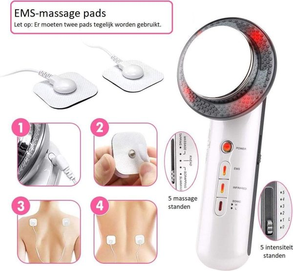 3 in 1 EMS Infrarood Ultrasoon Massage Apparaat